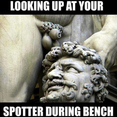 Afbeeldingsresultaat voor spotter gym meme