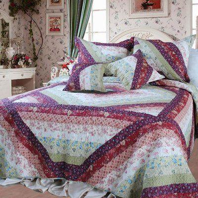 August Grove Marquardt 100% Cotton Reversible Quilt Set Size: California King