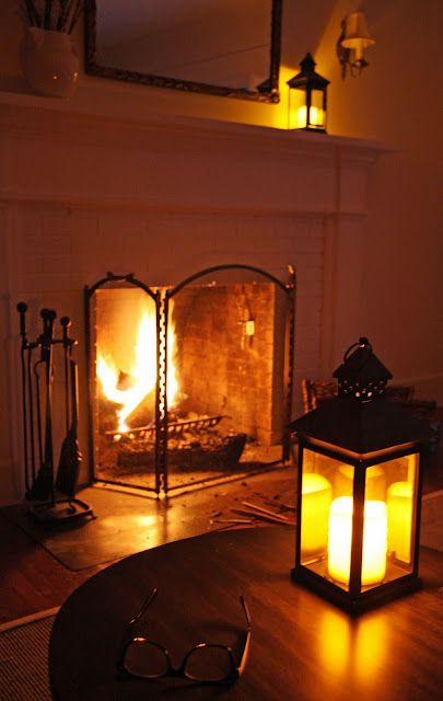 fireplaces and lanterns... so pretty!