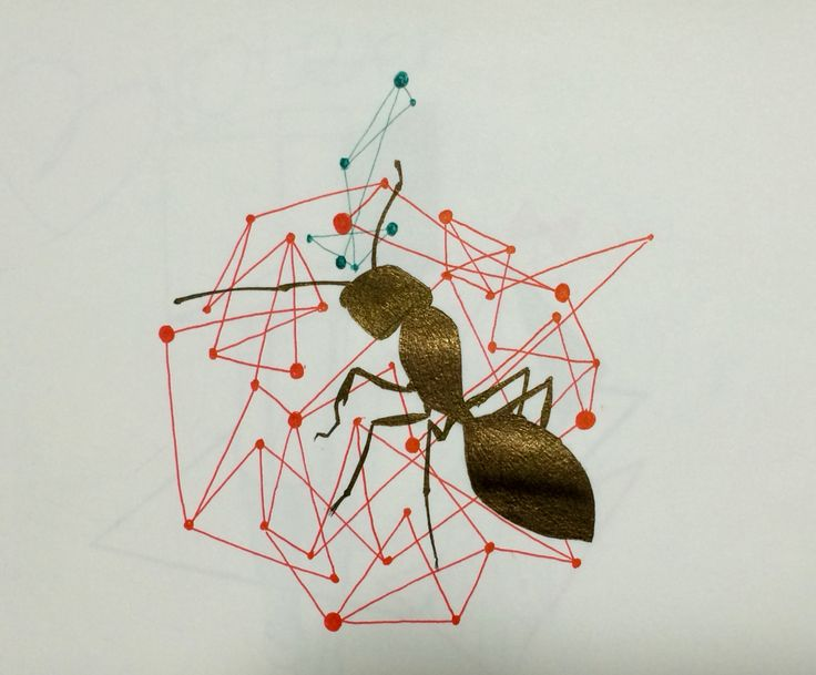 Ant and apple