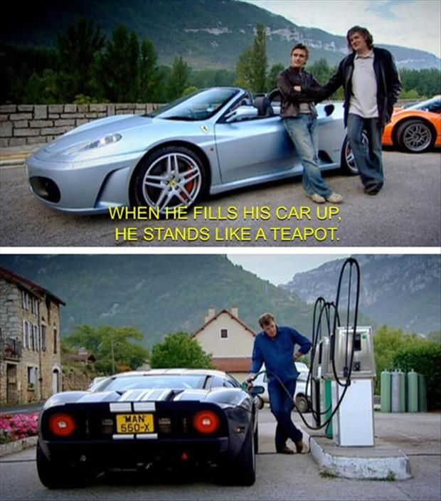 I adore Richard Hammond, James May and Jeremy Clarkson! BBC's Top Gear is aces!