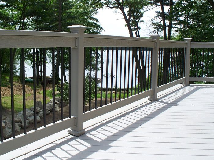Gray Deck Railing The Railing A Nice Contast To The