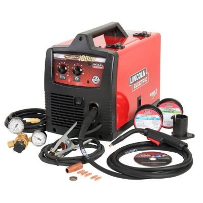 Weld Pak 180 HD Wire Feed Welder. This will typically weld most thicknesses you throw at it. If this welder doesn't weld the thickness of steel you're trying to weld, you'll need an industrial welder.