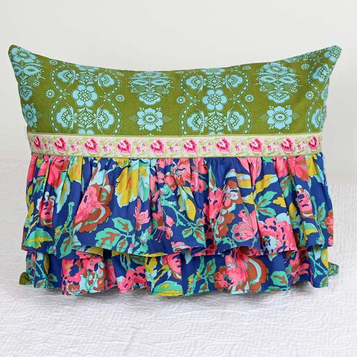 Gretchen -Double Ruffled Boudoir-Tween bedding: girls bedding: accentpillows:  Standard Size Custom Shams : Custom Pillow Shams : Penelope Accent Pillow Shams : girls custom bedding