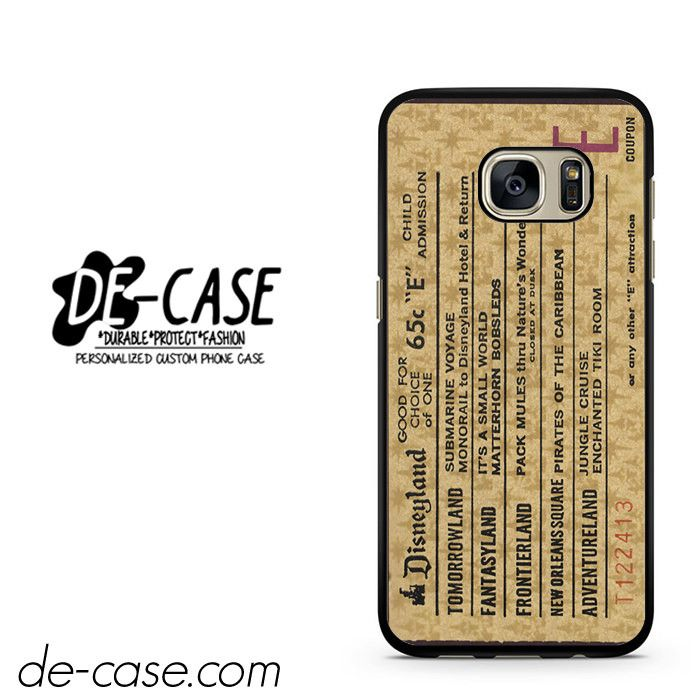 Classic Disneyland Ticket DEAL-2698 Samsung Phonecase Cover For Samsung Galaxy S7 / S7 Edge