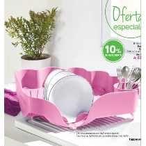 Tupperware Escurridor De Trastes Rosa Plastico Flexible