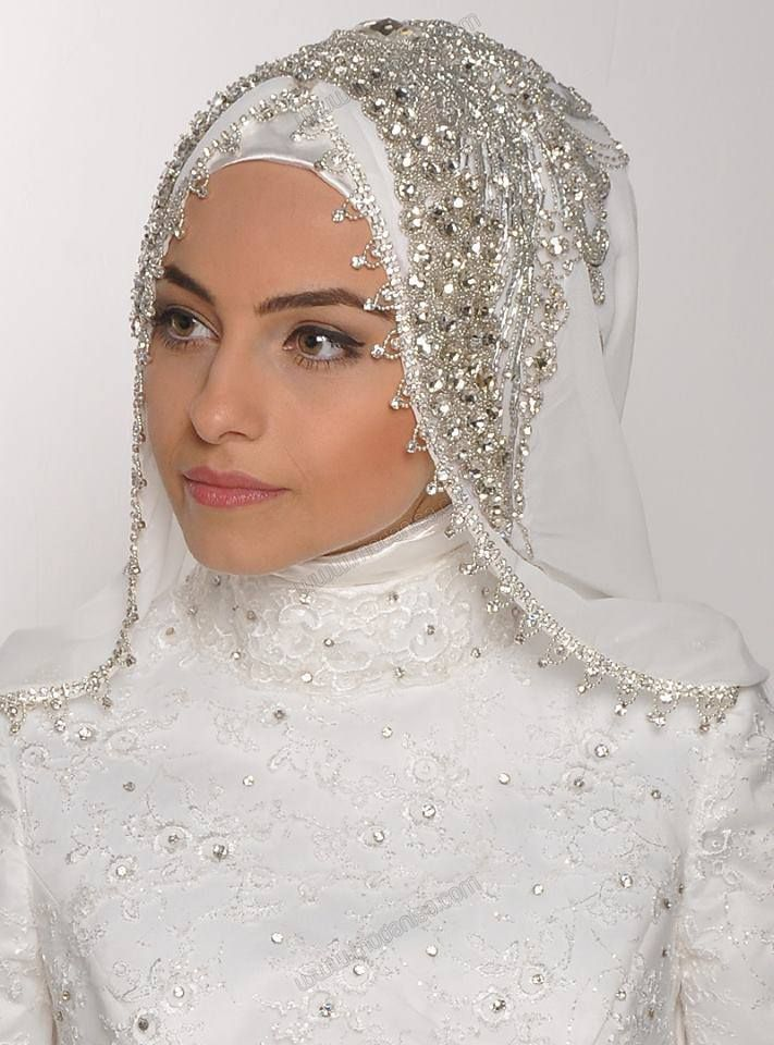 Turkish hijab bride. Beauty is a perceptual concept most appreciated by an…