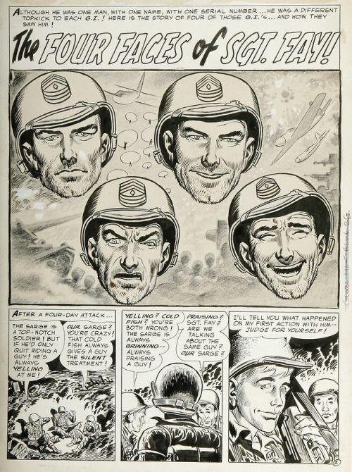 Original page by Joe Kubert from All-American Men of War #39...  Original page by Joe Kubert from All-American Men of War #39 published by DC Comics November 1956. Script by Bill Finger.
