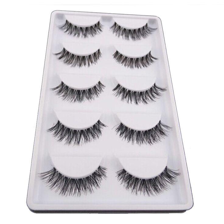 5Pair/Lot Crisscross False Eyelashes Fake Lashes Voluminous Natural False Eyelash Extension Cilios Posticos Make Up Wimpers