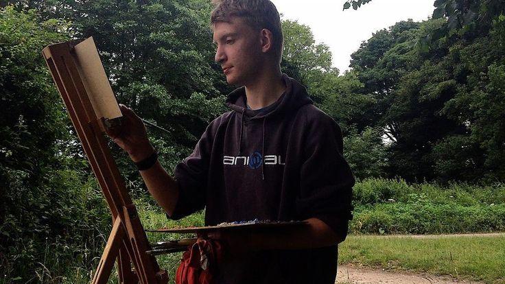 'Mini Monet' Kieron Williamson, 14, gives a one-minute masterclass - BBC News