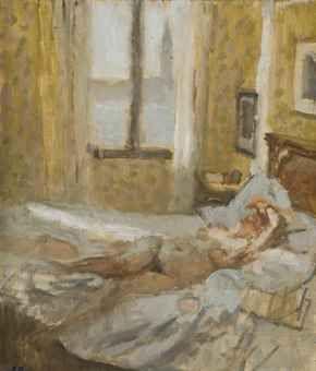 Nude, Venice, Morning - Bernard Dunstan