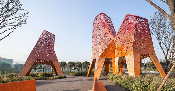 Fengming Mountain Park by Martha Schwartz Partners.