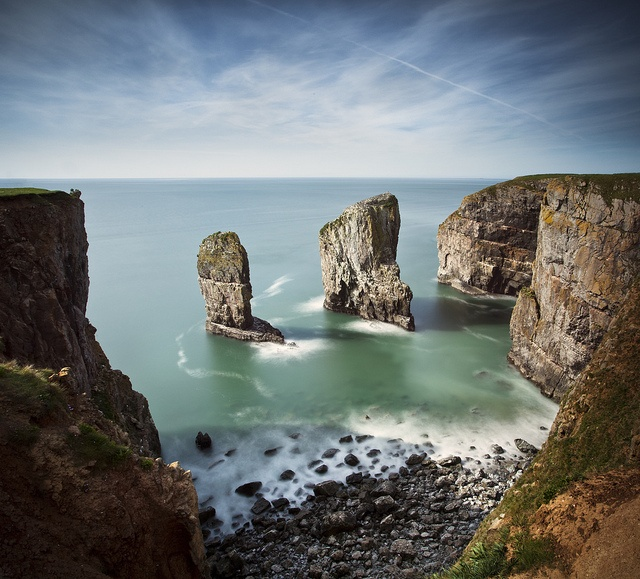 Elegug Stacks, Pembrokeshire, Wales by Simon J. Byrne. I need to visit Wales, clearly.