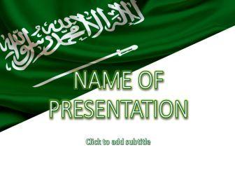 Saudi Arabia Flag - beautiful template for presentations
