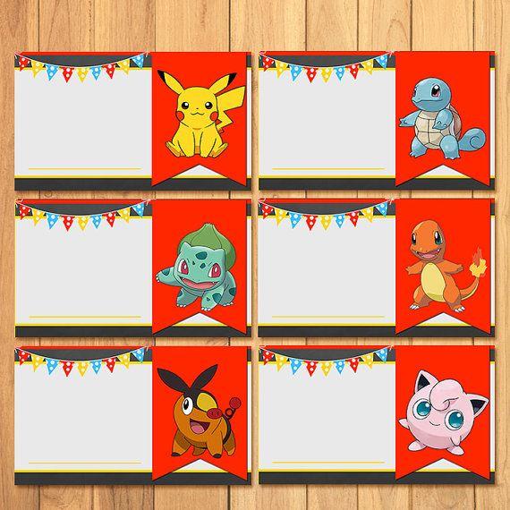 Pokemon Food Tents Chalkboard  Pokemon Food Label  by SometimesPie