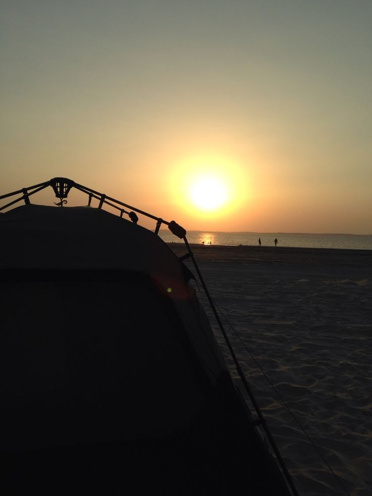 Beach Camping and Sunset
