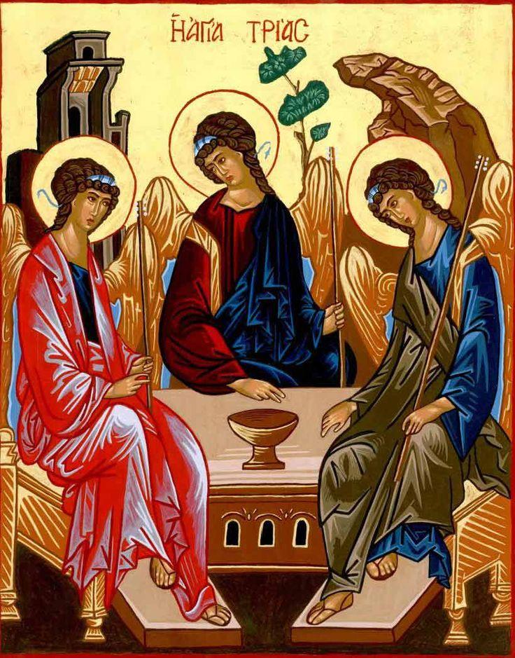 Uskomme yhteen Jumalaan, joka on Isä ja Poika ja Pyhä Henki. Kaikkeuden Jumala on näyttänyt kasvonsa ihmiseksi syntyneessä Jeesuksessa Kristuksessa. Se tarkoittaa sitä, että Jeesuksen kautta voimme nähdä, että Jumala on rakastava Isä, jolla on ihmisiä kohtaan hyvä tahto. Pyhä Henki valaisee nuo samat kasvot tämän päivän ihmiselle. Siksipä vanhassa Pyhää Kolminaisuutta kuvaavassa ikonissa kaikilla hahmoilla on samanlaiset kasvot.