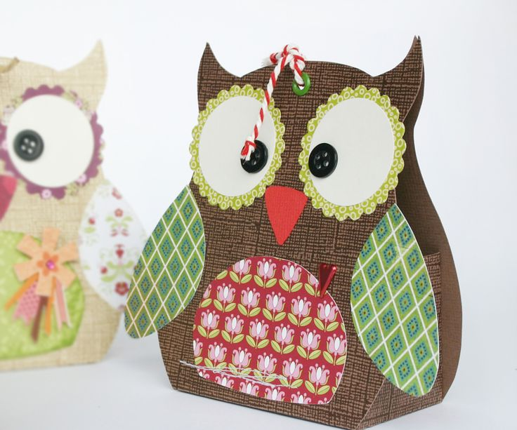 Owl gift box and template