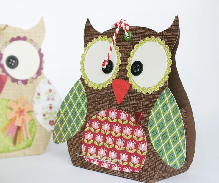Owl gift box - super fun and easy DIY - print out free pdf - www.miriD.de