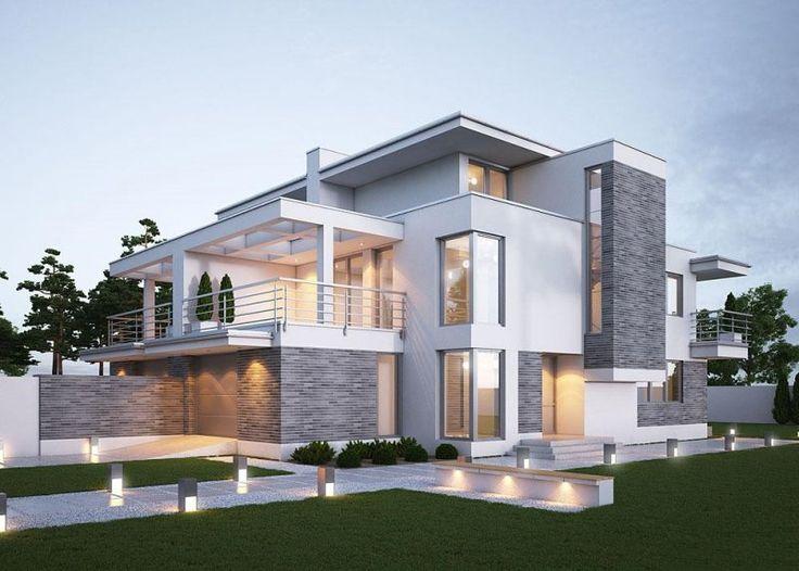 Dom jednorodzinny w zabudowie bliźniaczej, piętrowy,  z jednostanowiskowym garażem.