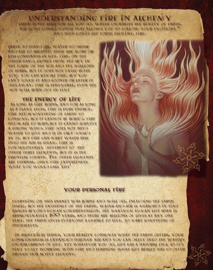 understanding fire in alchemy
