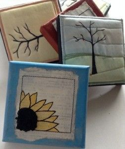 4 X 4 inch Mixed Media Canvases for sale by Dale Anne Potter.