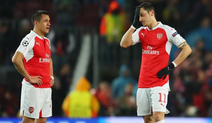 #rumors  Alexis Sanchez and Mesut Ozil 'offered 20% pay hikes to fire Arsenal back into Champions League'