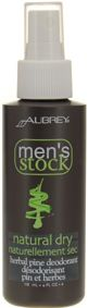 Aubrey Organics Mens Stock Natural Dry Herbal Pine Deodorant paraben free deodorant. Natural herbal extracts keep you fresh-smelling all day without harsh ingredients or preservatives. Herbal antioxidant formula gives you all-day freshness. Made with skin-soothing vitamin E & calendula, this spray deodorant dries fast. Vegan. http://www.theremustbeabetterway.co.uk/brand/aubrey-organics/aubrey-organics-personal-care/aubrey-organics-mens-stock-natural-dry-herbal-pine-deodorant.html