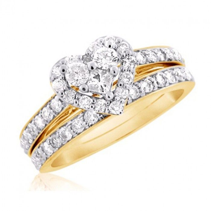 Cool Find beautiful Heart Shaped Diamond Bridal Engagement Ring Set Offering the Best of Modern