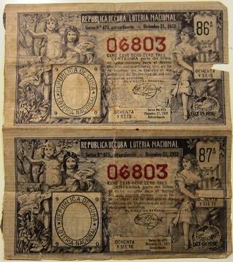 Lotttery Ticket - Cuba 1921