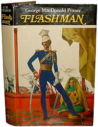 Flashman series by George Macdonald Fraser.  Seires in Chronological order:  http://en.wikipedia.org/wiki/Harry_Paget_Flashman