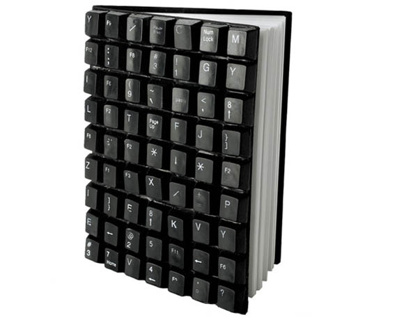 Recycled Keyboard Notebook - would be good for a boy's present.