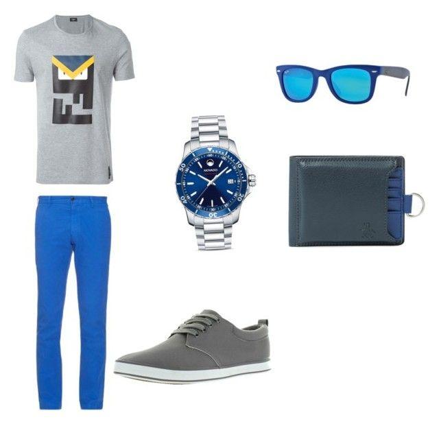 by mariuccia1 on Polyvore featuring polyvore Fendi Polo Ralph Lauren Arider Movado Ray-Ban Original Penguin men's fashion menswear clothing