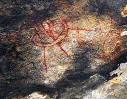 rock painting #aliens and UFOs were found in Chhattisgarh Bastar