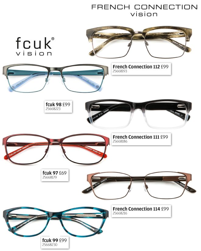 New glasses from fcuk