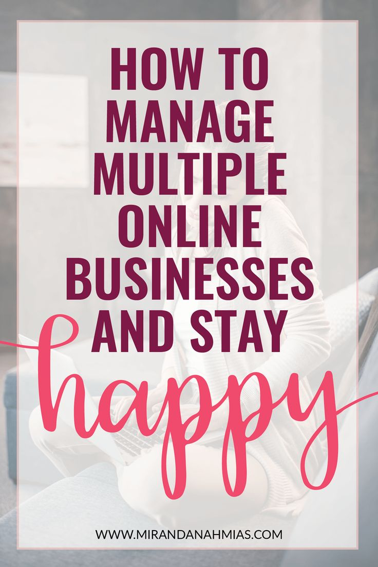 Serial Entrepreneur? Here's how to manage multiple online businesses and stay HAPPY // Katie Harp - Miranda Nahmias & Co. Digital Marketing + Virtual Assistance