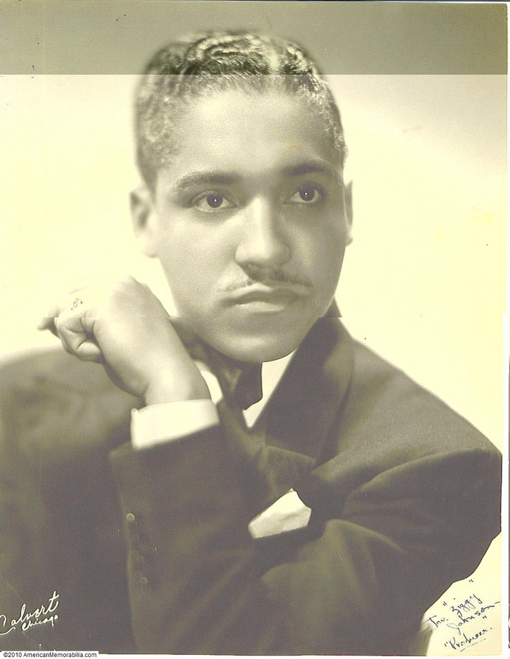 Ziggy Johnson, Producer Signed Photo (From Cotton Club Ballroom Dancer's Collection)