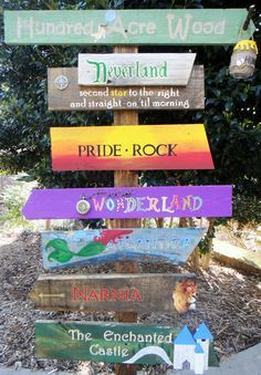 Custom Directional Sign Fictional Places by TheTrashySide on Etsy