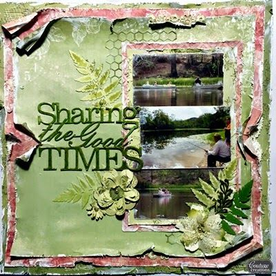 Couture Creations Vintage Rose Garden papers  Scrapdiva Tina: Sharing the Good Times