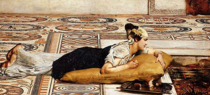 "Sir Lawrence Alma-Tadema ""Water Pets"""