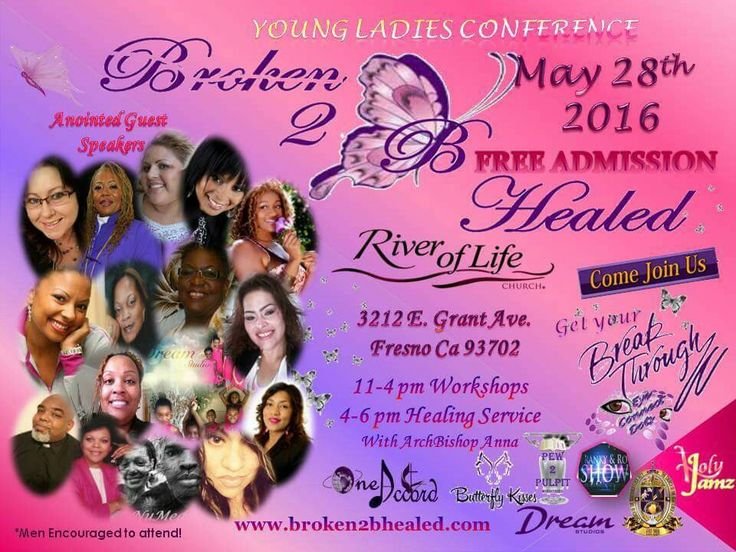 3 MTHS AWAY! Are you ready? SAVE THIS DATE! MAY 28TH! CHAINS WILL BE BROKEN AGAIN! A POWERFUL ANOINTING OF GOD WILL FALL ONCE AGAIN!  Location: RIVER OF LIFE CHURCH 3212 E Grant Fresno Ca. (Same location we did it at last year)  Our Beautiful Mcee & Hostess Ms Kina McFadden  Special Guest Speakers: Workshops -Evangelist Carolyne Cookie Evans  -Dominique Peska-Howell  -Sis Sandra Nelson -Min. LaTricia L. Cobb-Perry -Sis Darlene Laney  Artists Performances: -Ms Sabrina Williams  -Sis Veronica…