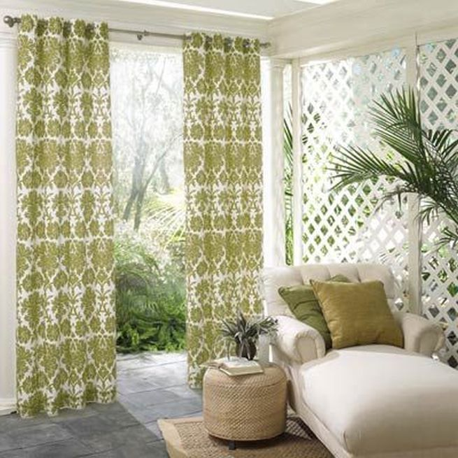 14 best images about grommet panels with fun tie backs on for Screen porch window treatments