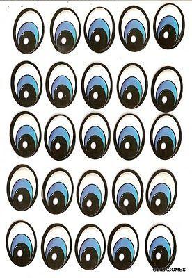 olhos de bonecos para imprimir - Pesquisa Google