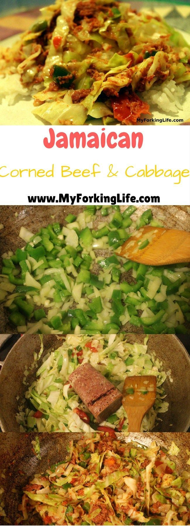 Jamaican Corned Beef & Cabbage is a traditional island dinner dish that can be on your table in a matter of minutes. Perfect for a quick and easy weeknight dinner.