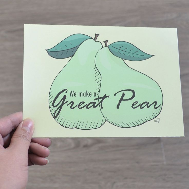 We make a Great Pear, A punny card for any occasion, Anniversary Card, Valentines Day Card, Love Card, Friendship Card by AMTaylorArt on Etsy https://www.etsy.com/ca/listing/265025598/we-make-a-great-pear-a-punny-card-for
