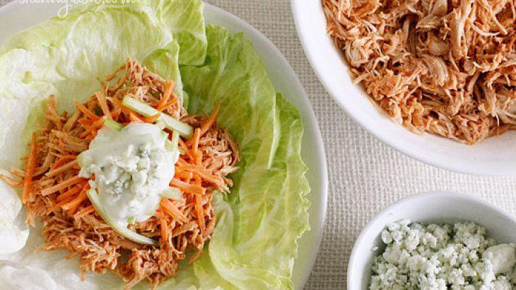 Crock Pot Buffalo Chicken Lettuce Wraps | Buffalo sauce addict ...