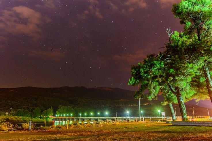 Macedonia - Sky full of stars over Aliakmonas River.....Photo by Δημήτρης Ρέντης Discover Veria — in Veria, Imathia, Macedonia Greece. - Έναστρος ουρανός πάνω από τον Αλιάκμονα....