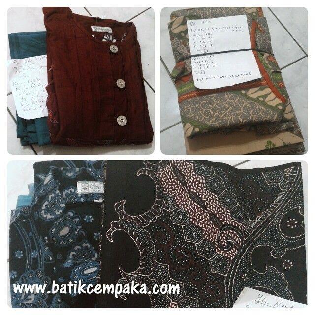 Beberapa pesanan batik pelanggan kami @batikcempaka
