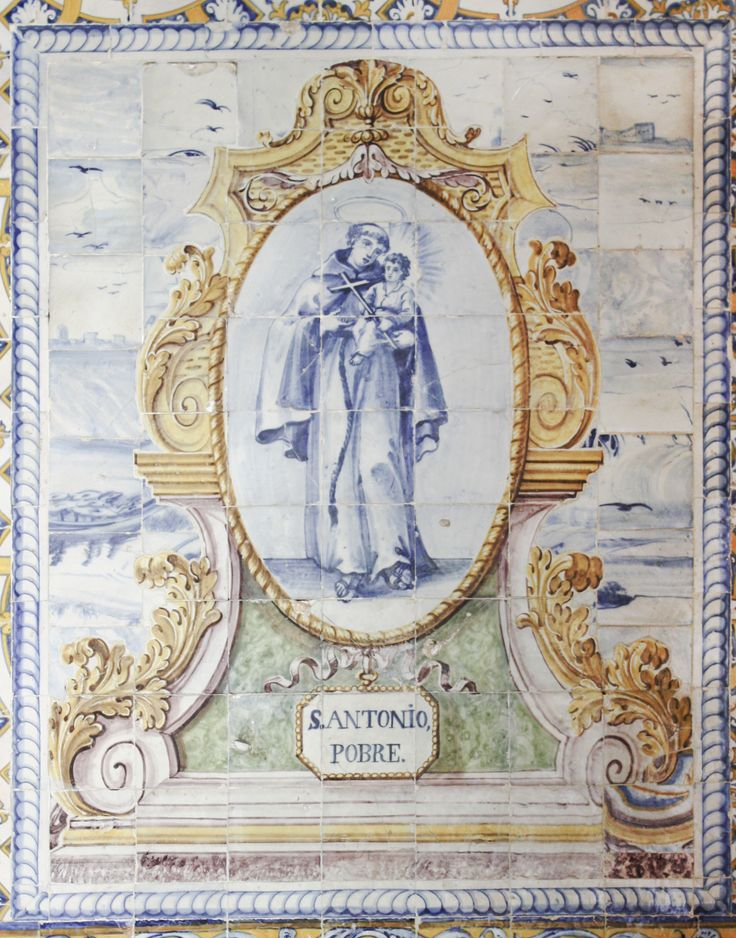 Lisboa | Hospital de Santa Marta | Claustro / Cloister | Capela de / Chapel of Santo António Pobre [© Az Infinitum] #Azulejo #AzulejoDoMês #AzulejoOfTheMonth #Santos #Saints