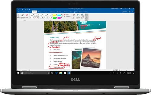 """Dell - Inspiron 2-in-1 13.3"""" Touch-Screen Laptop - Intel Core i5 - 8GB Memory - 256GB Solid State Drive - Silver"""